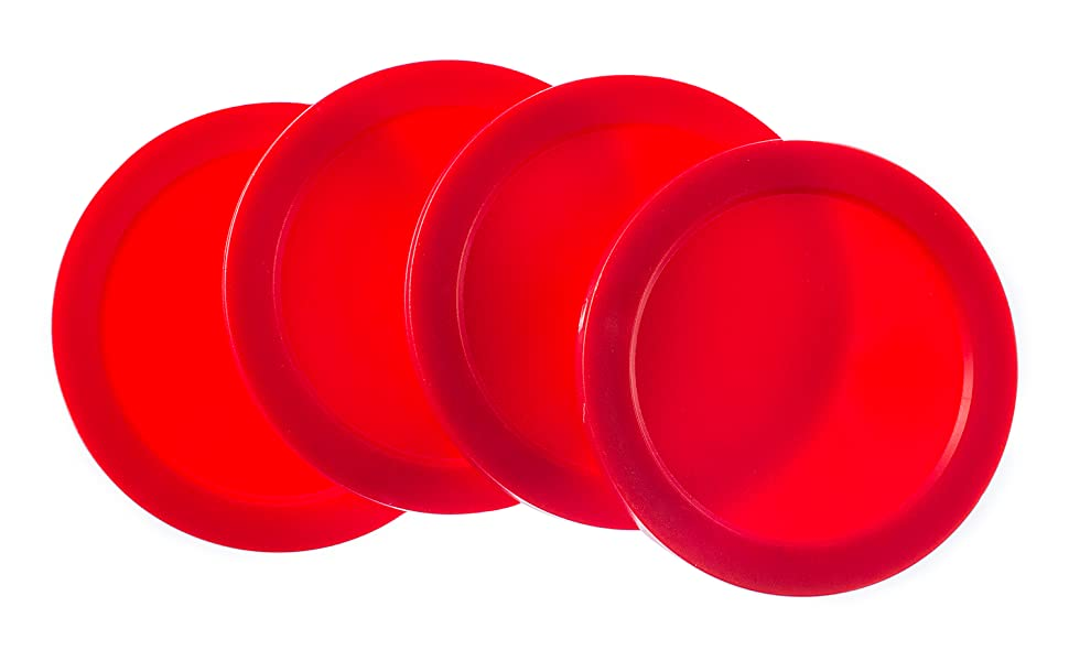 red replacement pucks, boys party, boys birthday party decorations, hockey birthday party supplies
