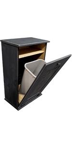 Sawdust City Large Tilt-Out Trash Bin With Shelf
