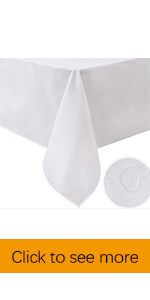 white tabelcloth