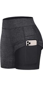 High Waist Running Shorts with Pockets