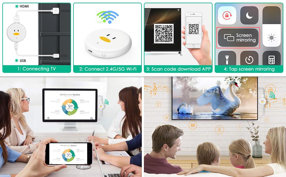 Chromecast,Timoom 5G/2.4G WiFi Display Dongle Original chromecast 4K 1080P HDMI Inalambrico, 4K WiFi Dongle TV con Airplay/Miracast/DLNA para Android/iPhone/Mac/Windows.: Amazon.es: Electrónica