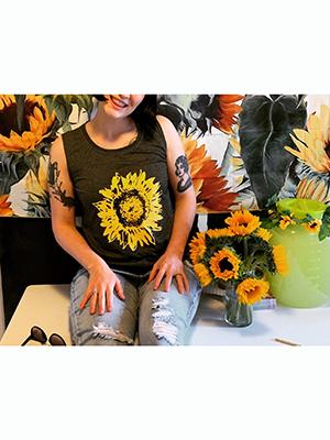 Summer Sunflower Graphic Tank Tops Women Graphic Tank Tops Sleeveless Graphic Tee Shirts Tank Top