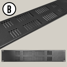 """AxcessAbles RKVENTED2U Universal 2U Blank Vented Panel Spacer for 19"""" Rack Cabinet"""