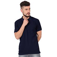 Tshirt navy blue cotton polo shirt