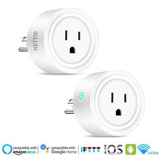 WiFi Smart Plugs Mini Wireless Socket Outlet