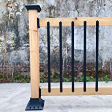 Myard 32-1/4 Inches Heavy Duty Iron Balusters with Screws