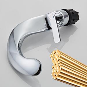 Bathroom Faucet Brushed Nickel Waterfall Spout Single Handle