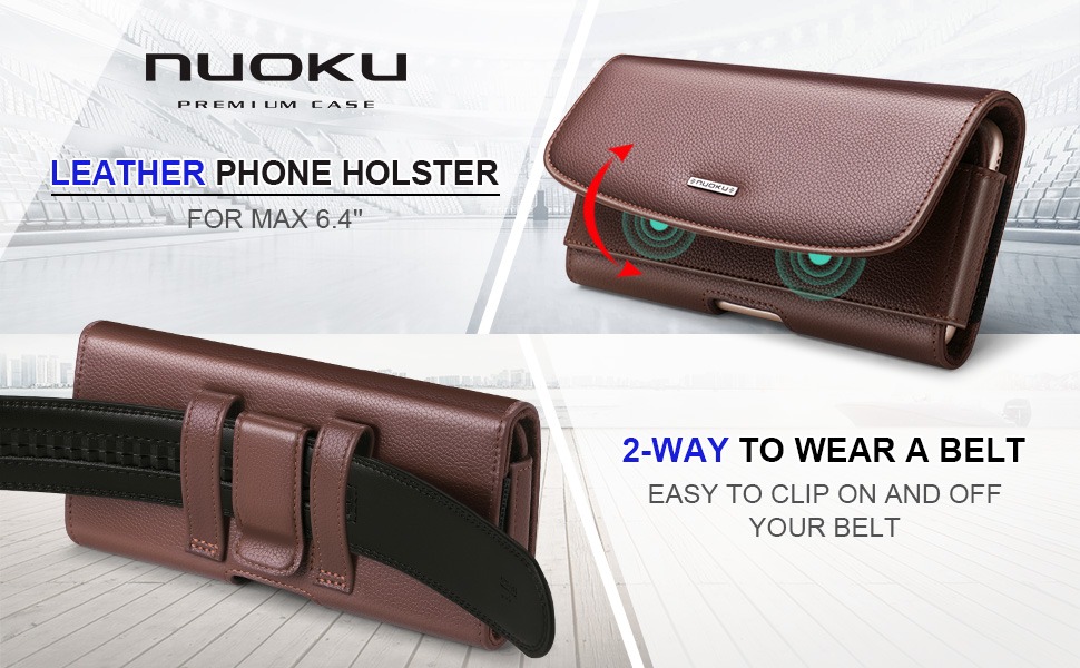LEATHER PHONE HOLSTER FOR MAX 5.8'' PHONE
