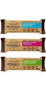sevenhills wholefoods  Barras de proteínas de superalimentos orgánicos