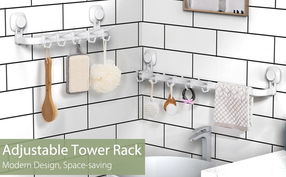 adjustable towel rack