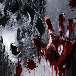 bloody footprints floor clings