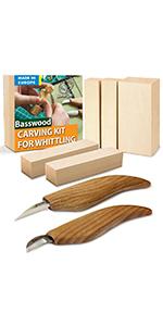 wood whittling kit for beginners