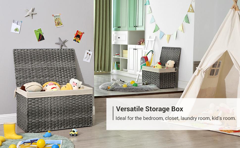 Versatile Storage Box  Ideal for the bedroom, closet, laundry room, kid's room.