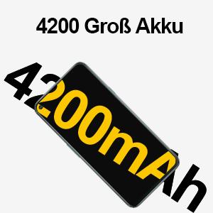 4200 mAh Akku hält lang