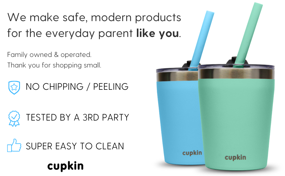 cupkin stainless steel sippy cups for toddlers dishwash safe dishwasher safe easy to clean cpsc