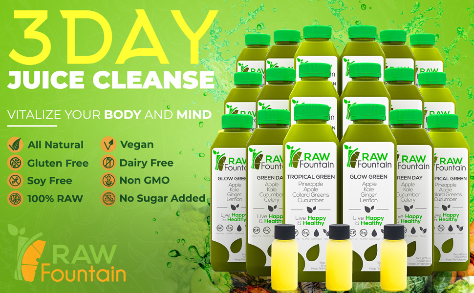 Juice Cleanse Cold Pressed Natural Raw Vegan Vegetarian Detox Weight Loss