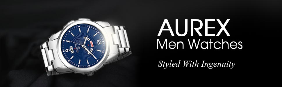 Aurex Dial Round Shaped Day & Date StainlessSteel Bracelet Watch SPN-FOR1P Prime Day Submission