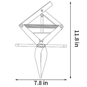 Plunger Mole Trap Gopher TrapEliminator Scissor Trap Easy Set