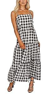 Summer Sleeveless Pleated Casual Maxi Dress