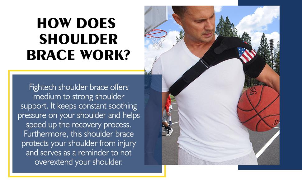 Shoulder support brace provides constant soothing pressure