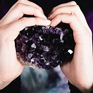 Hand selected amethyst crystals