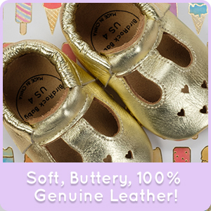 BirdRock Baby Mary Jane Moccasins and Toddlers Babies Infants Genuine Leather Soft Sole Baby Girl Shoes for Newborns