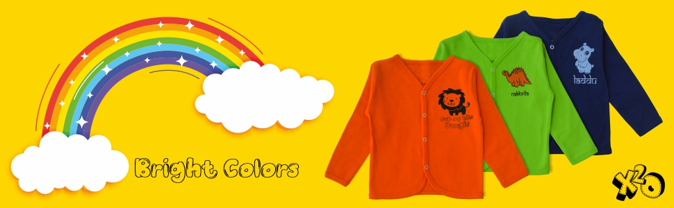 Color Jhabla , Jhabla , front open,B08CL4G2MB , x2o, infant , baby boy , baby girl , cute , panda ,