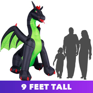 Dragon that is 9 foot tall