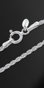 Silver Spiga Chain for Pendant