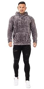 Grey Sherpa Hoodie