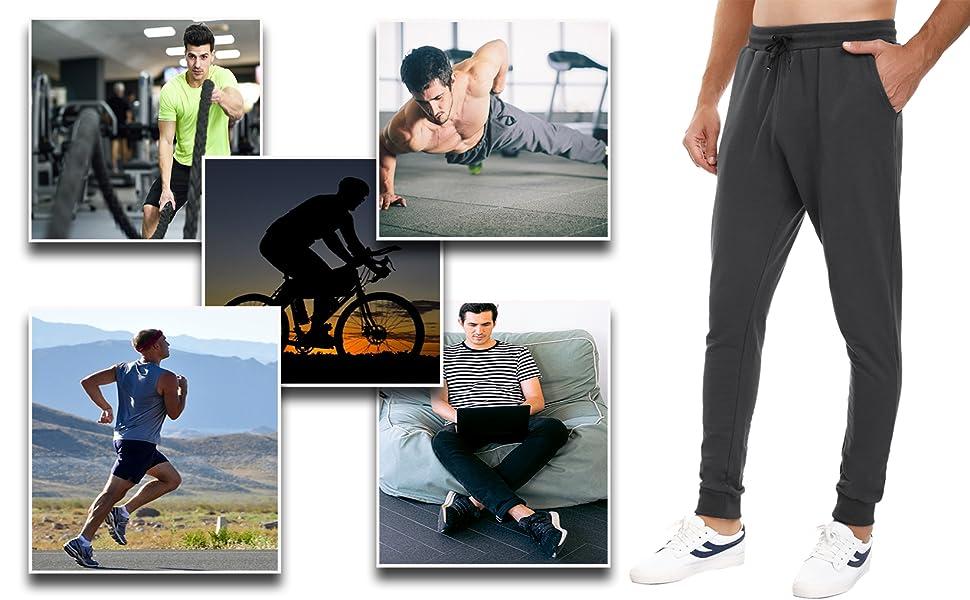 pantalones cargo hombre running