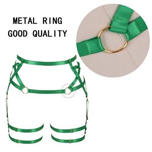 Harness Garter Belt+Green