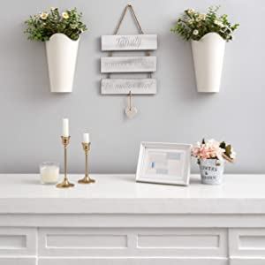 hanging flower vases for wall
