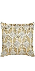 Golden Rain Pillow Covers