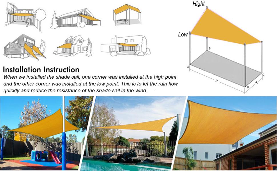 patio sail triangle