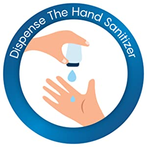 pour few drops of hand sanitizer on hands