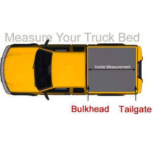 1.Measure the inside of the bulkhead to the tailgate, not include the rails. 2.Measure method