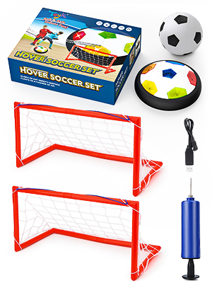 hover soccer with 2 goals