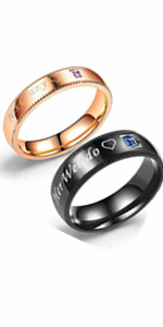 his crazy her weirdo rings set,his crazy rings,her weirdo rings,couple rings