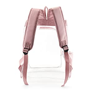clear bag pink