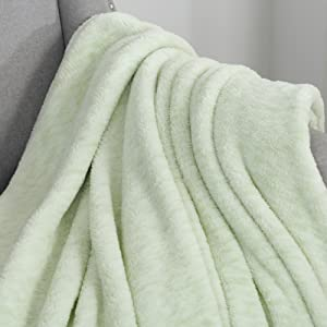 Sochow Sherpa Fleece Throw Blanket All Seasons Lightweight Fuzzy Warm Super Soft Plush Blanket For Bed Sofa And Couch 60 X 80 Inches Light Green Kitchen Dining