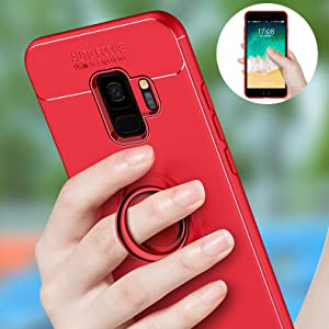 Samsung Galaxy S9+ Plus case with ring metal plate Magnet