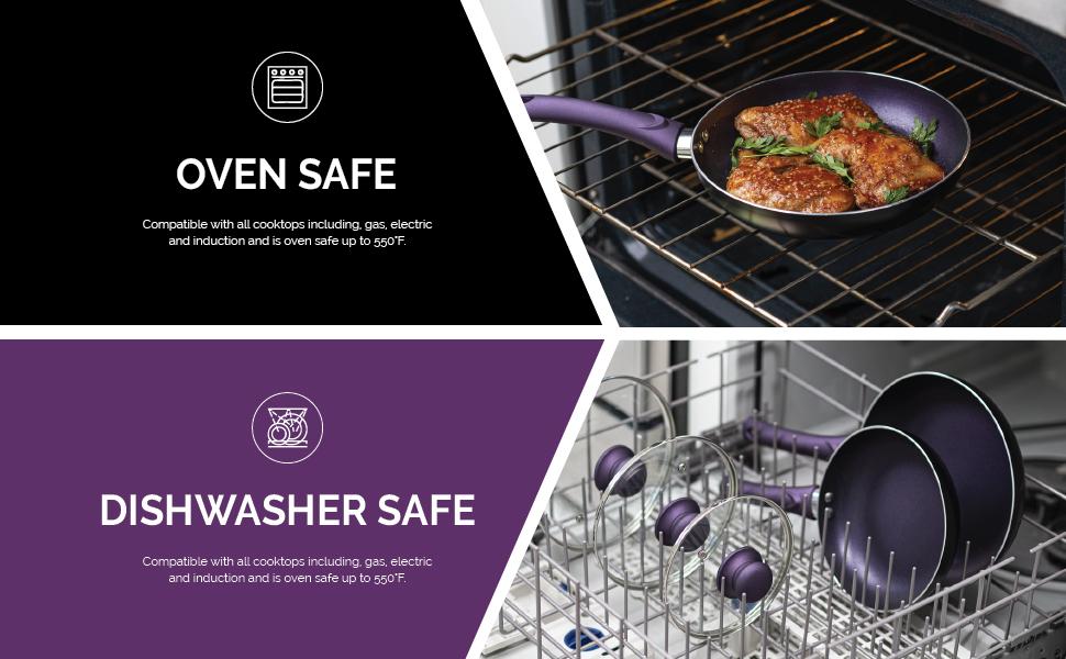 pots pans cooking cookware aluminum nonstick induction