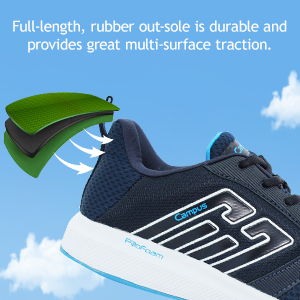 Full-Length, Rubber Out-Sole Is Durable Provides Great Multi-Surface Traction