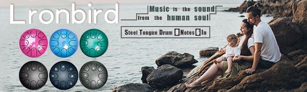 Playing steel tongue drum - Enjoy life