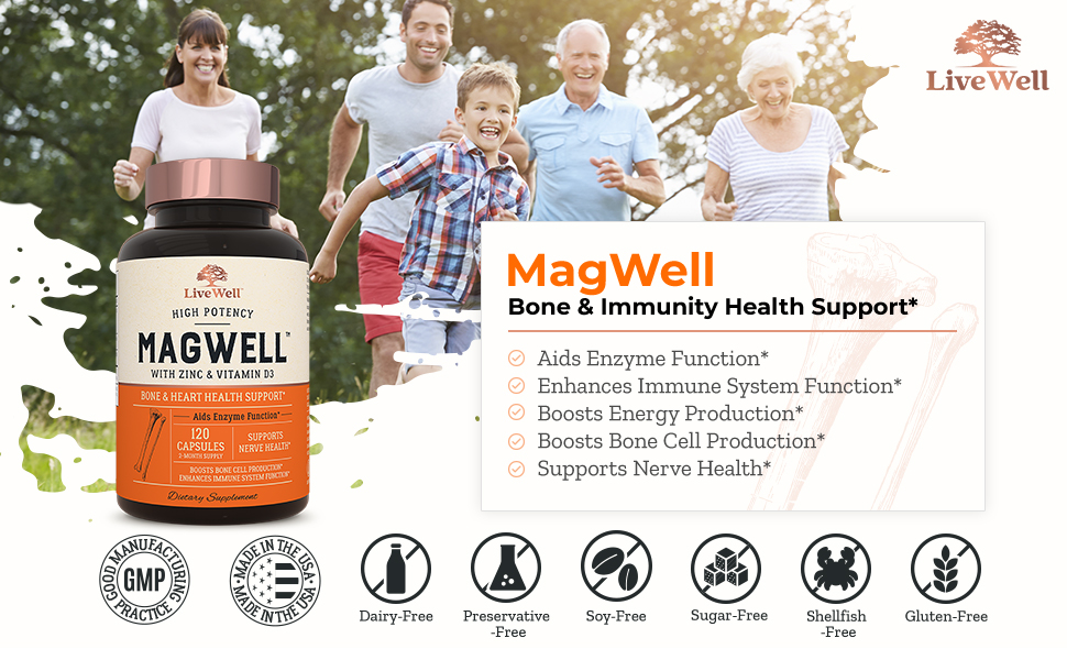 MagWell Bone & Immunity Health Support