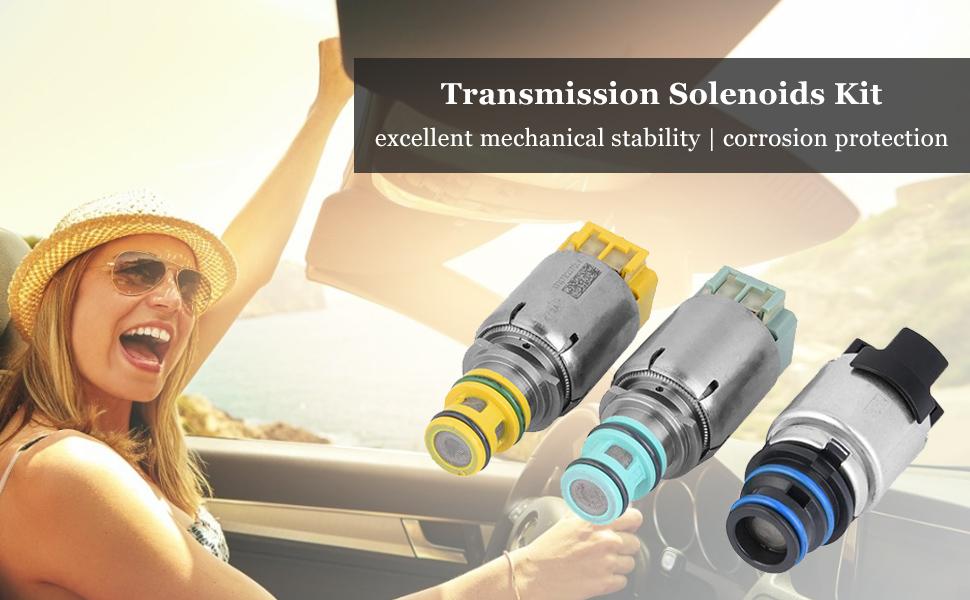 Koauto Remanufactured 7 pcs Transmission Solenoids For 6 Speed 6T45E 6T40 Buick LaCrosse Regal GL8