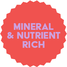 Mineral & nutrient rich