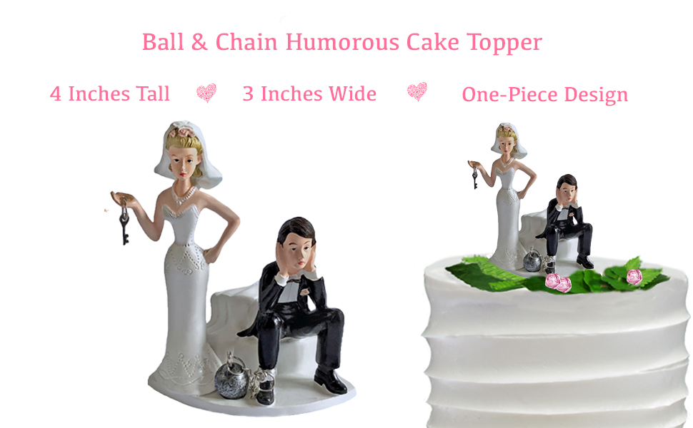 Ball and Chain Wedding Cake Topper
