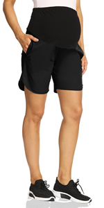 maternity shorts over the belly maternity workout shorts gym shorts for women maternity athletic